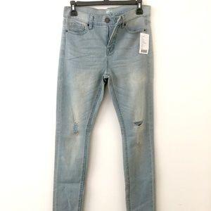 High Rise Cigarette Light Wash Jeans - BDG